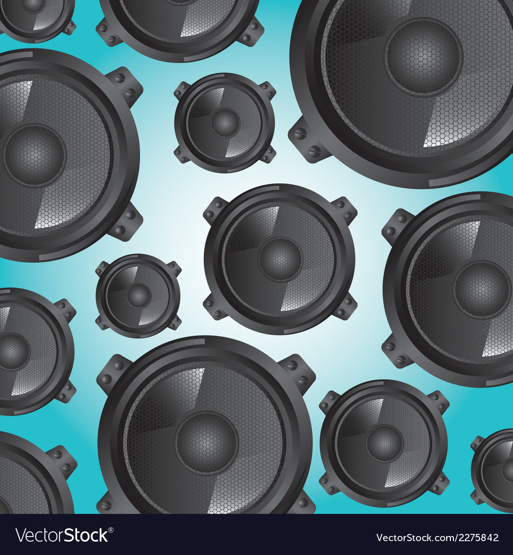 Music speakers background vector | Price: 1 Credit (USD $1)