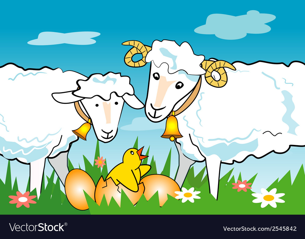 Sheep ram chicken vector | Price: 1 Credit (USD $1)