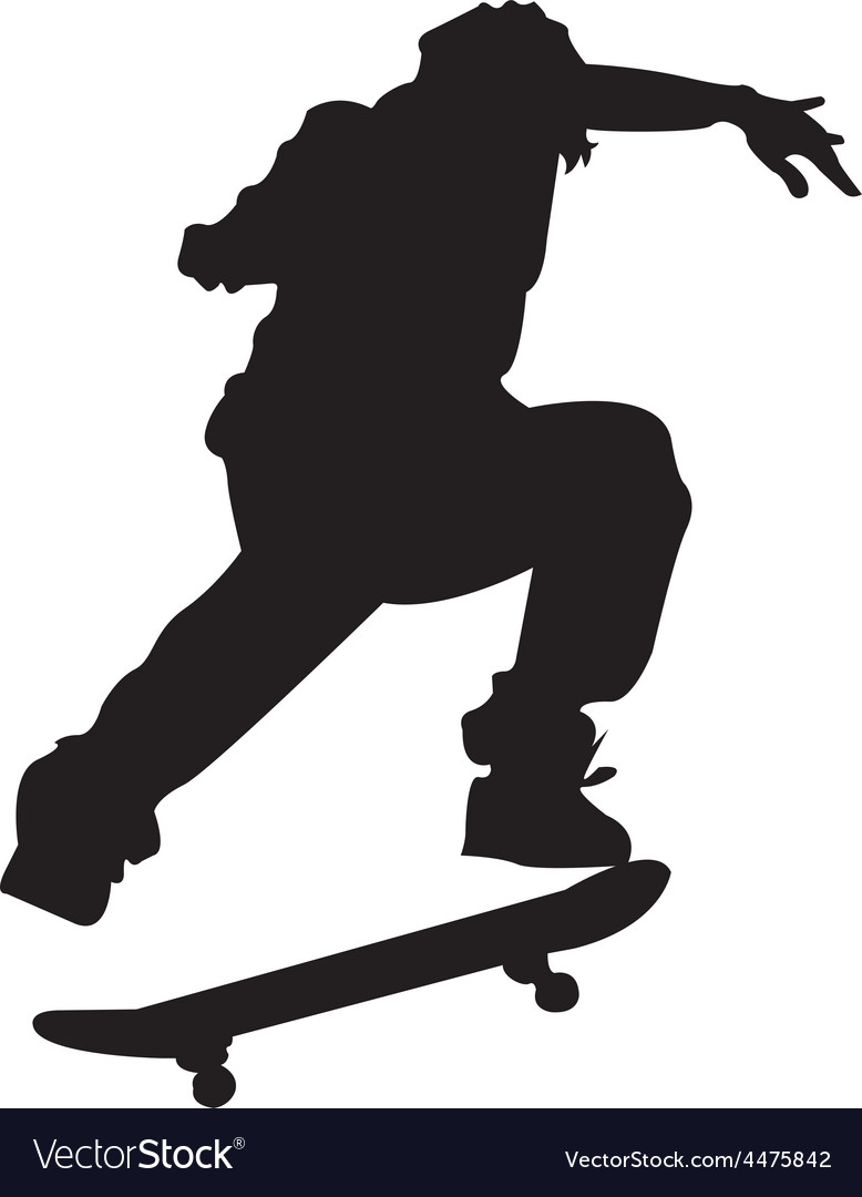 Skateboarder vector | Price: 1 Credit (USD $1)