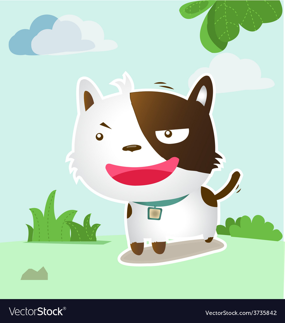 Smile dog lovely vector | Price: 3 Credit (USD $3)