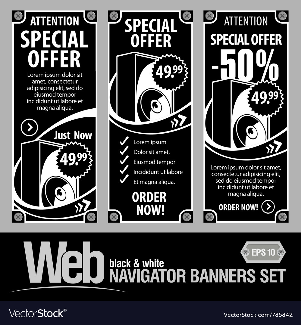 Special offer banner set vector | Price: 1 Credit (USD $1)