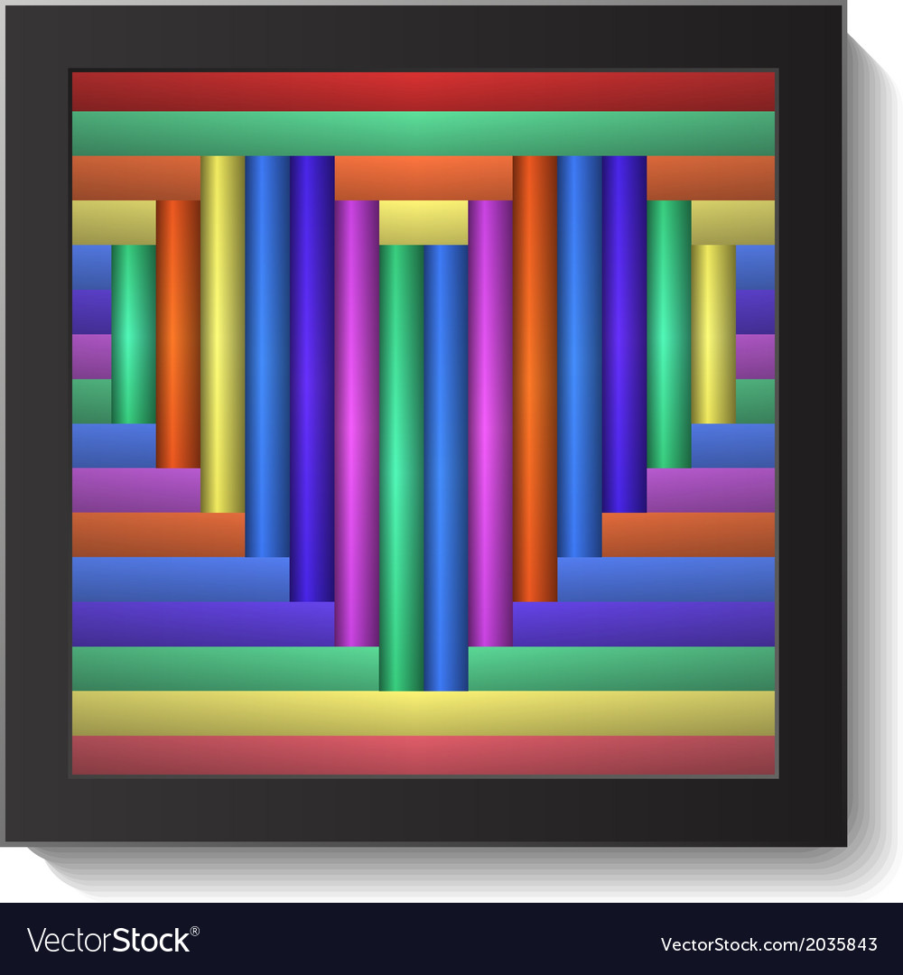 Abstract colorful heart in frame vector | Price: 1 Credit (USD $1)