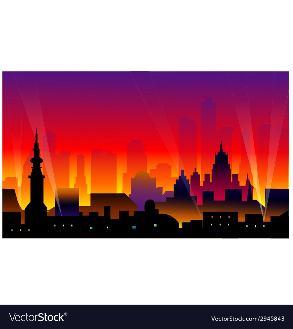 City night vector | Price: 1 Credit (USD $1)