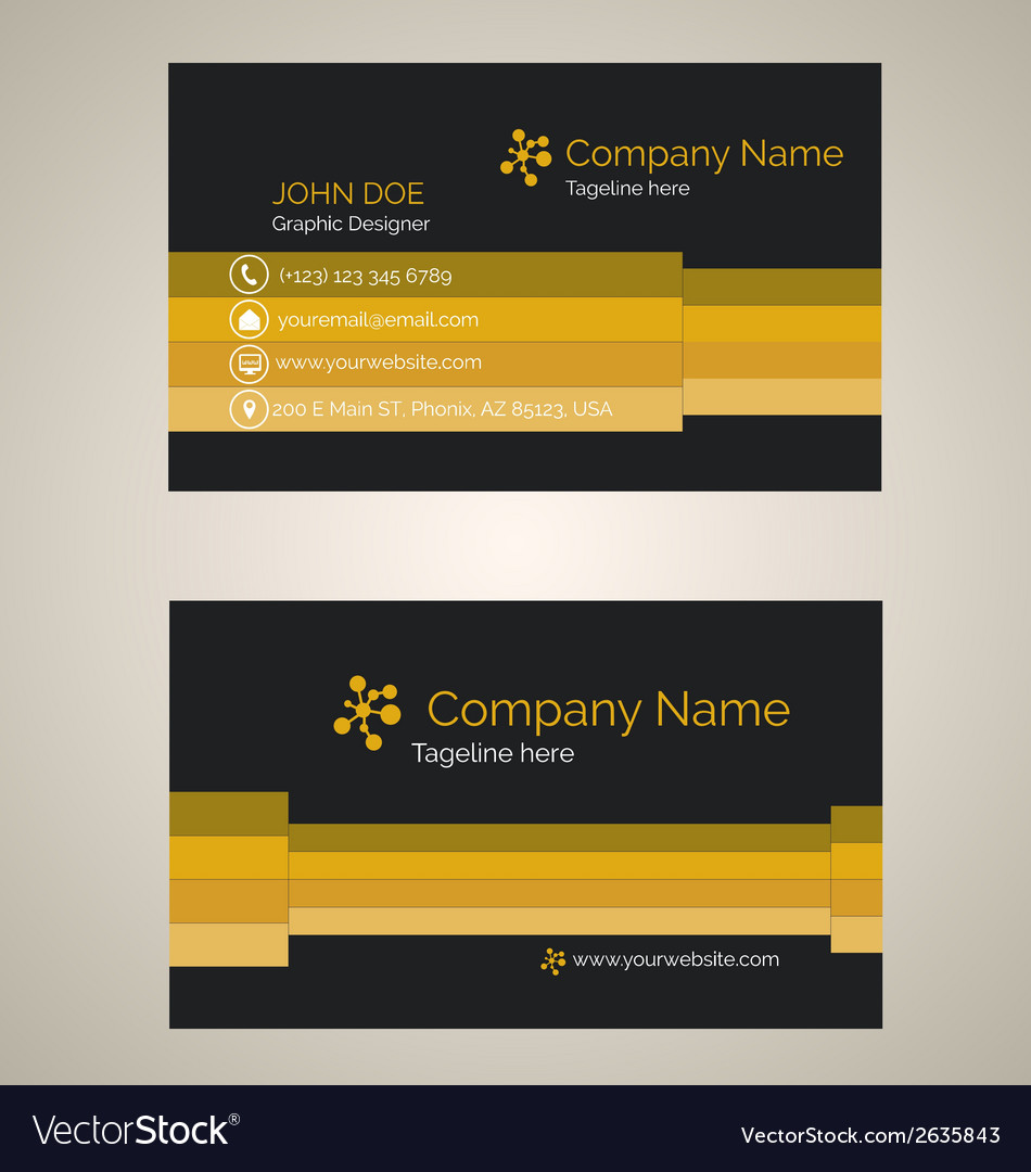 Corporate business card v 2 vector | Price: 1 Credit (USD $1)