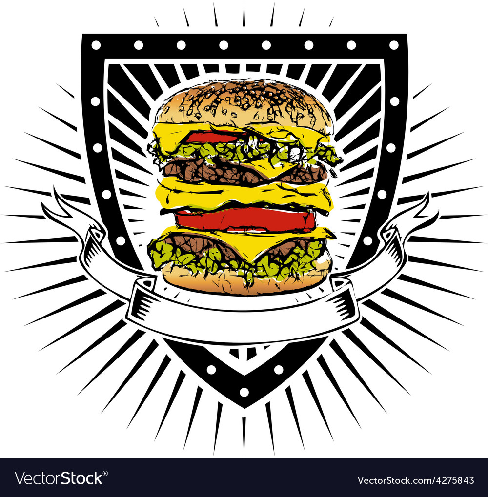 Doubleburger shield vector | Price: 1 Credit (USD $1)