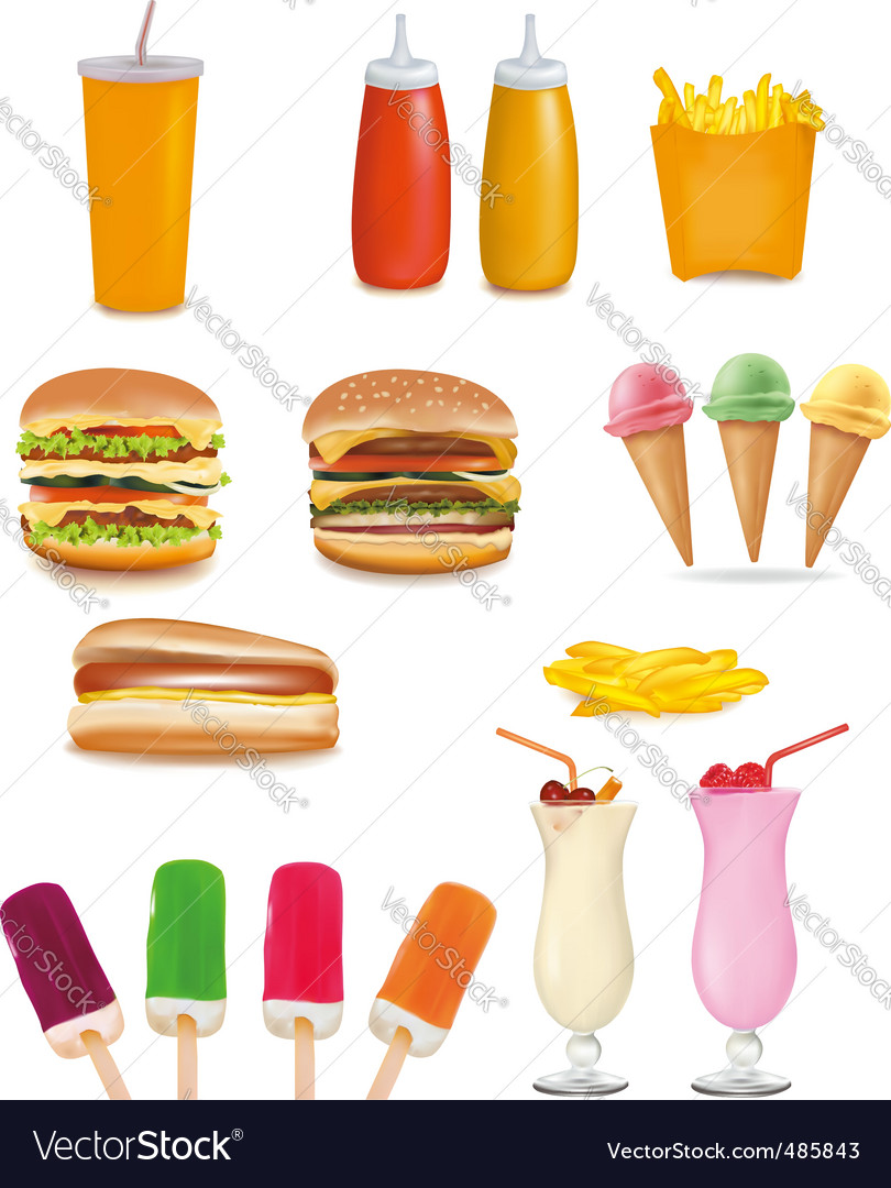 Fast-food vector | Price: 3 Credit (USD $3)