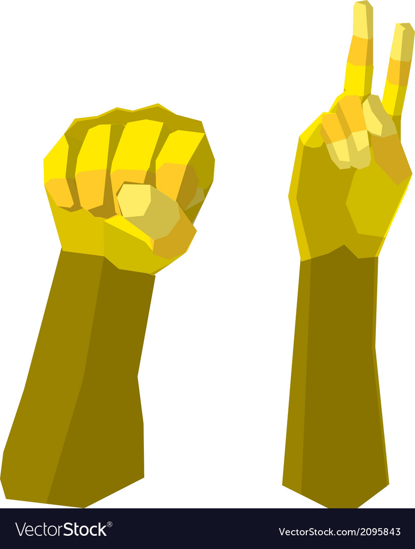 Fight hand polygon vector | Price: 1 Credit (USD $1)