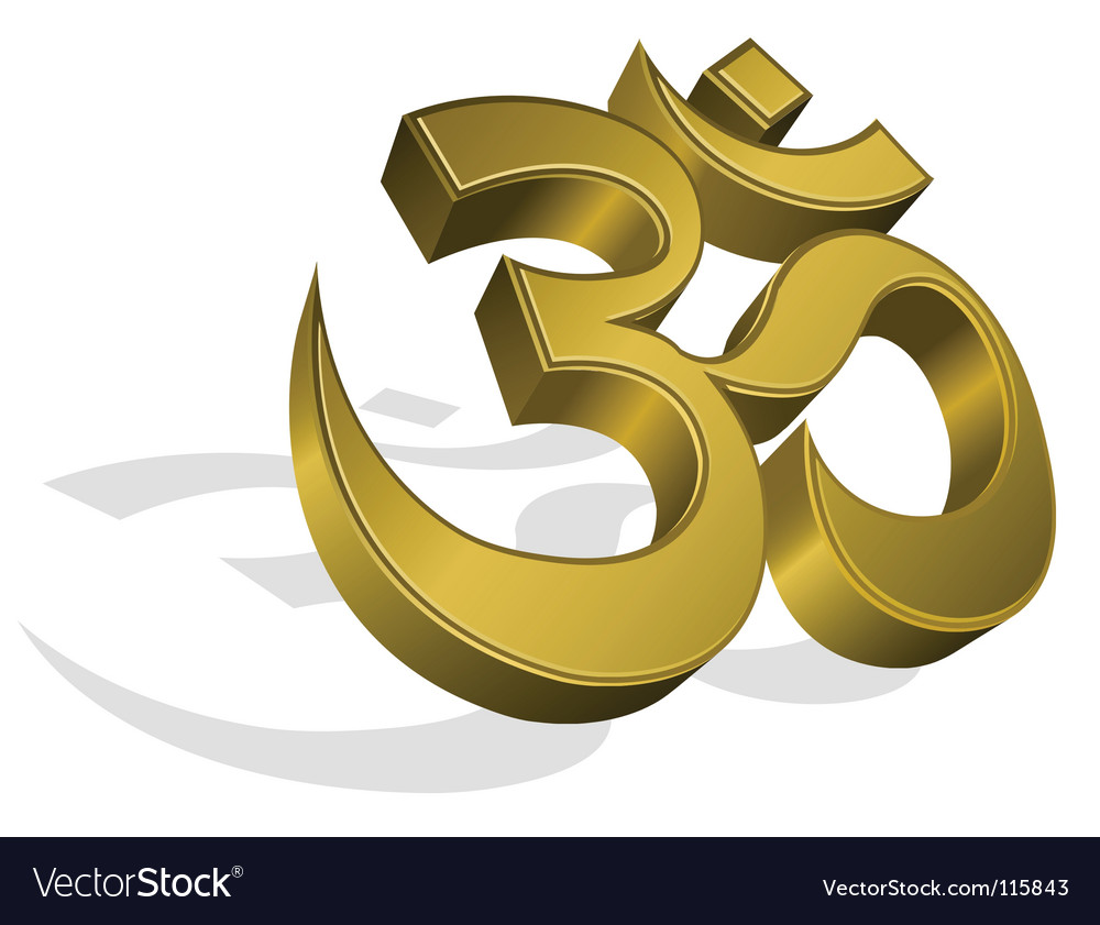 Golden om symbol vector | Price: 1 Credit (USD $1)