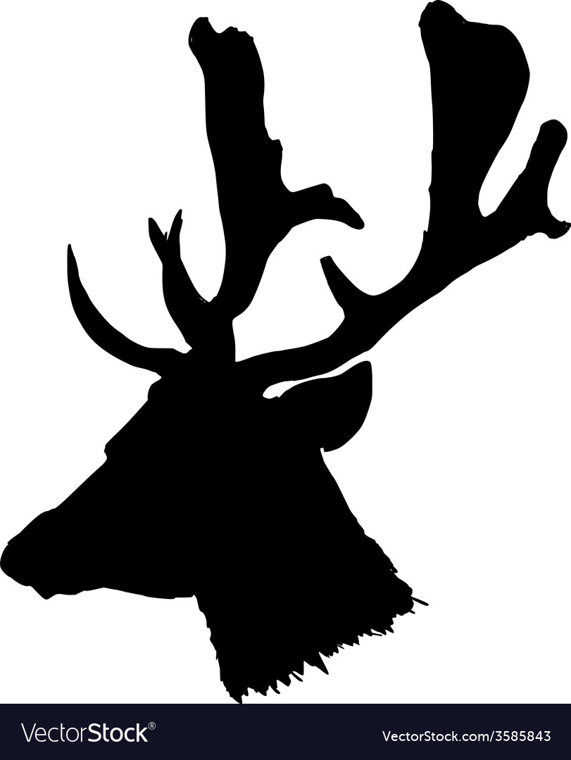 Head of deer vector | Price: 1 Credit (USD $1)