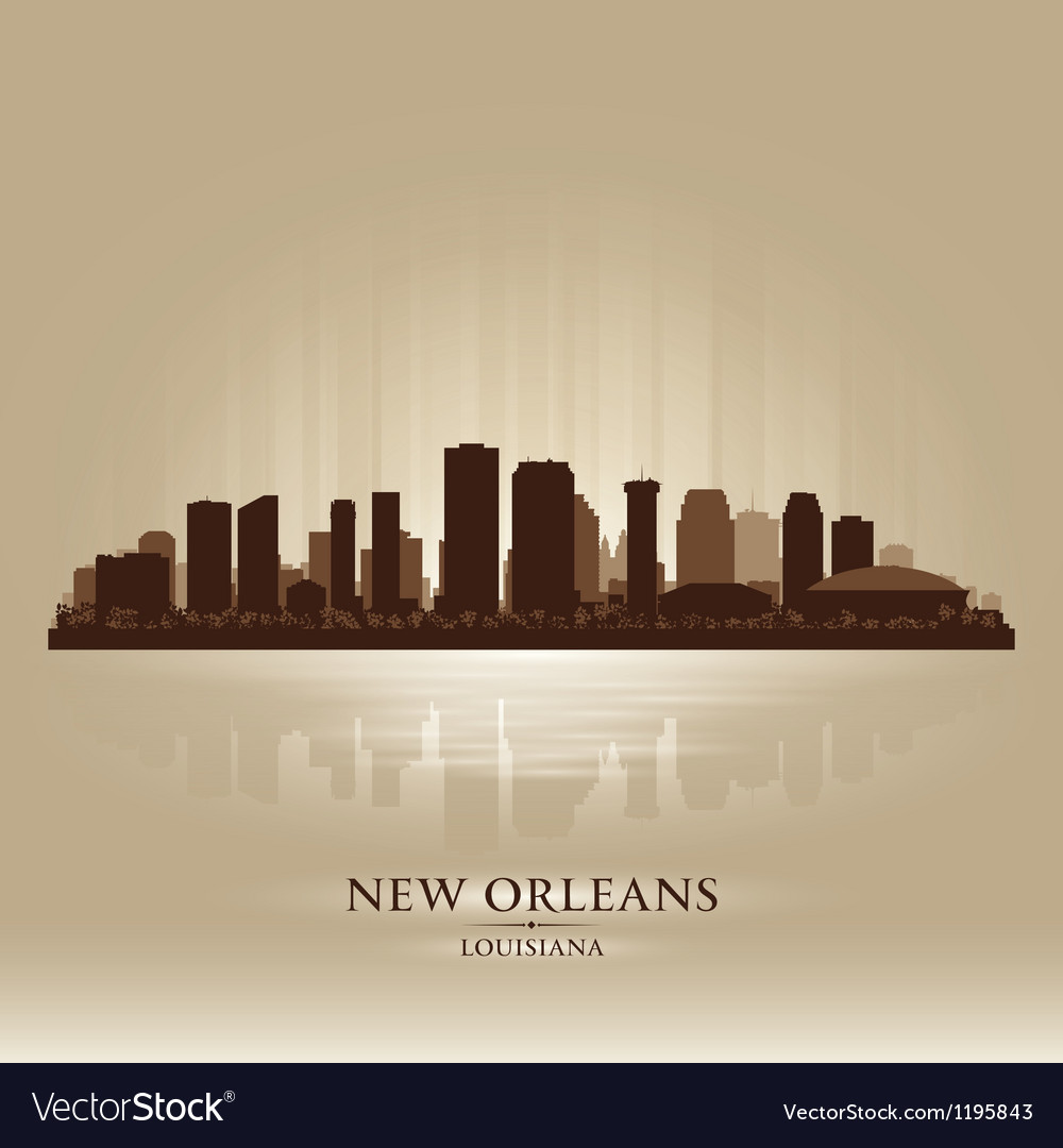 New orleans louisiana skyline city silhouette vector | Price: 1 Credit (USD $1)