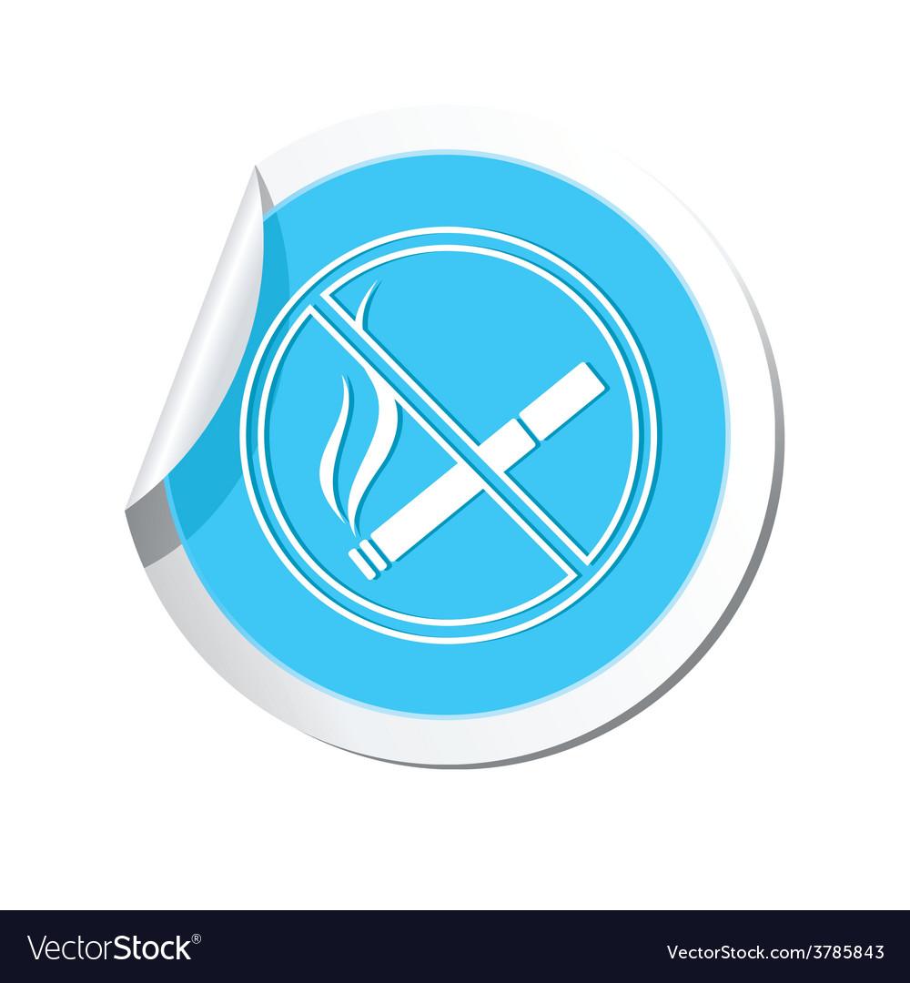 No smoking blue label vector | Price: 1 Credit (USD $1)