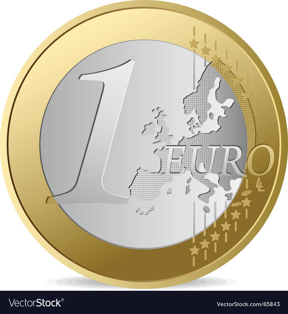 One euro vector | Price: 1 Credit (USD $1)