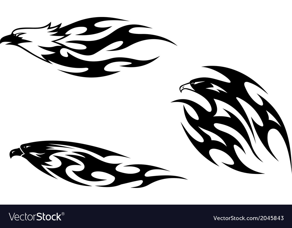 Predator birds tattoos vector | Price: 1 Credit (USD $1)