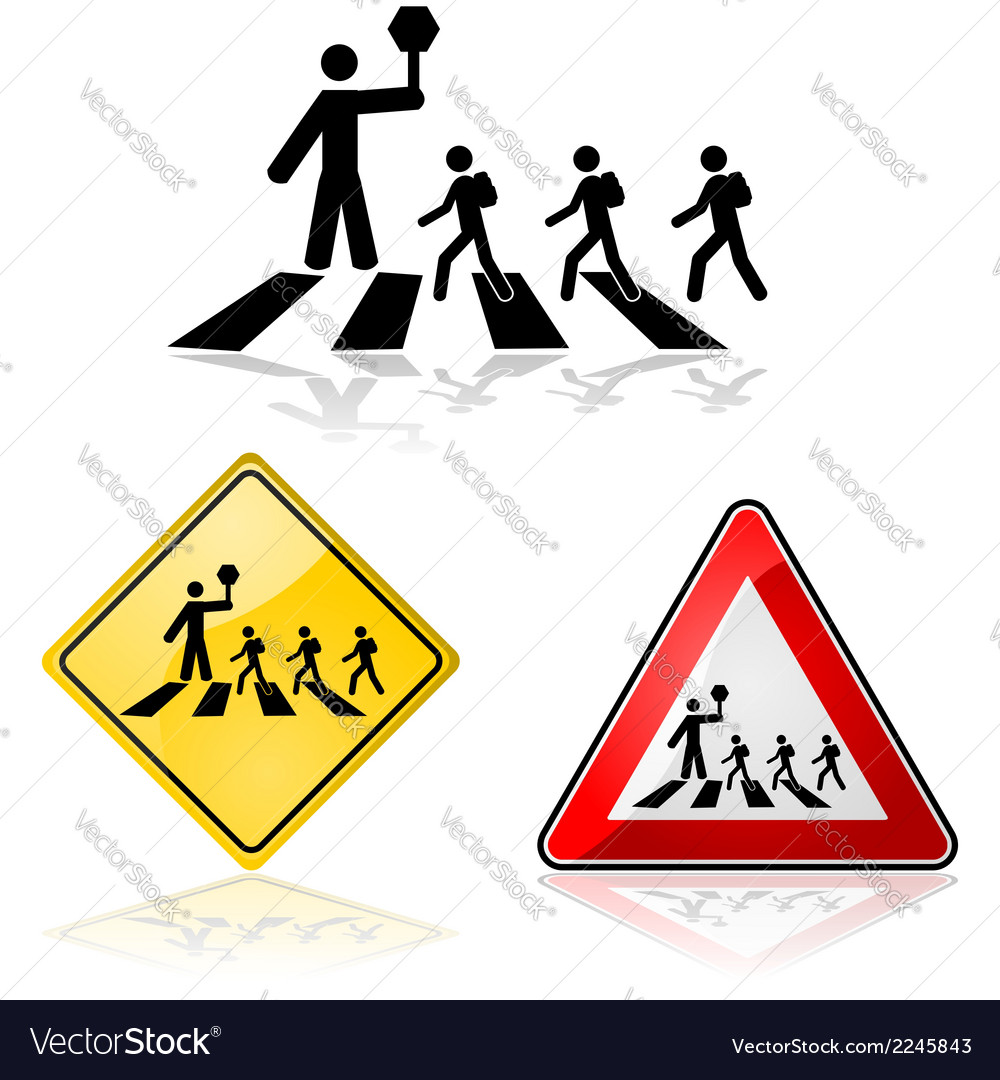 Street crossing vector | Price: 1 Credit (USD $1)