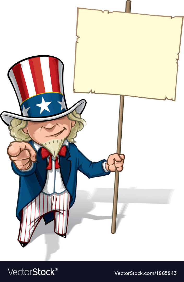 Uncle sam i want you placard vector | Price: 3 Credit (USD $3)