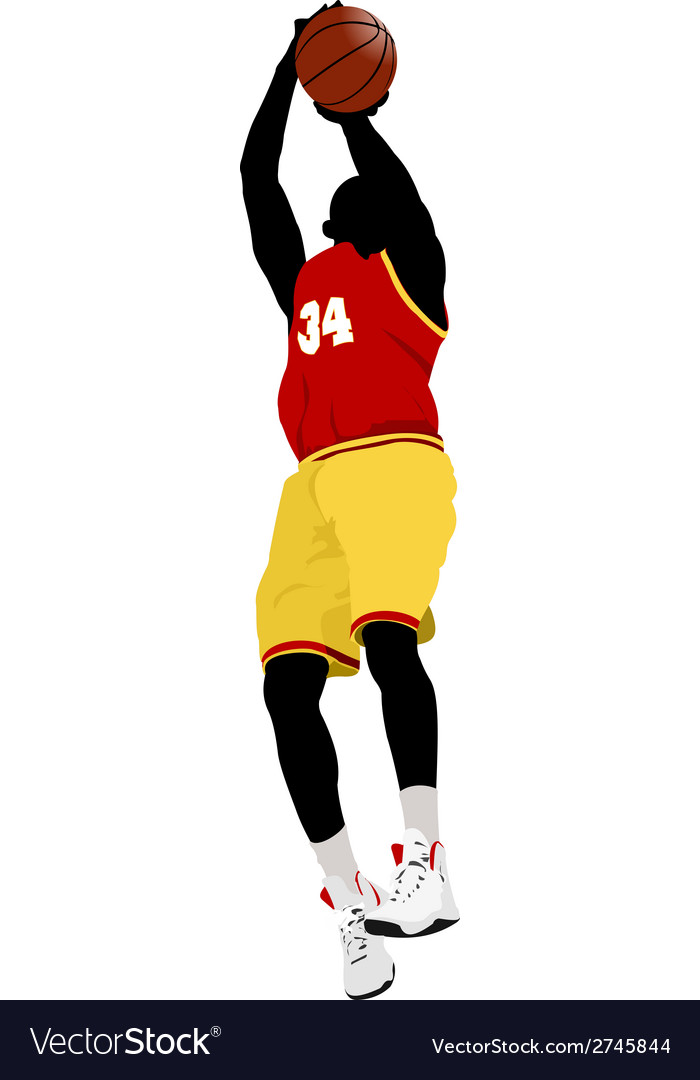 Al 0639 basketball player 01 vector | Price: 1 Credit (USD $1)