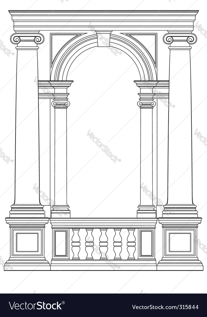 Architectural element vector | Price: 1 Credit (USD $1)
