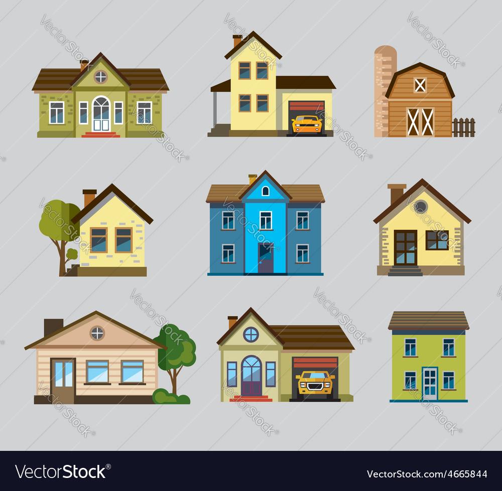 Colourful home icon vector | Price: 1 Credit (USD $1)