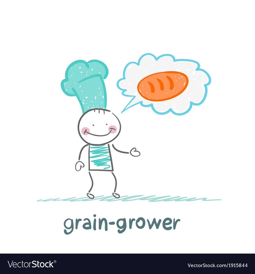 Grain grower is on bread vector | Price: 1 Credit (USD $1)
