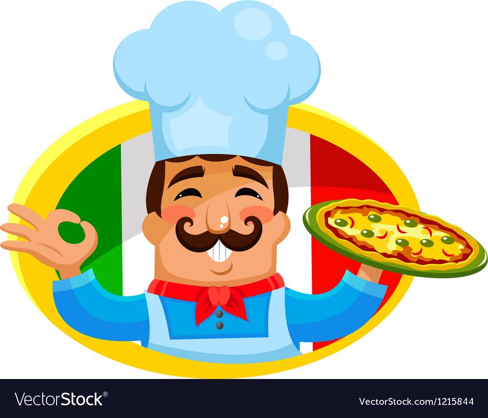 Italian chef vector   Price: 3 Credit (USD $3)