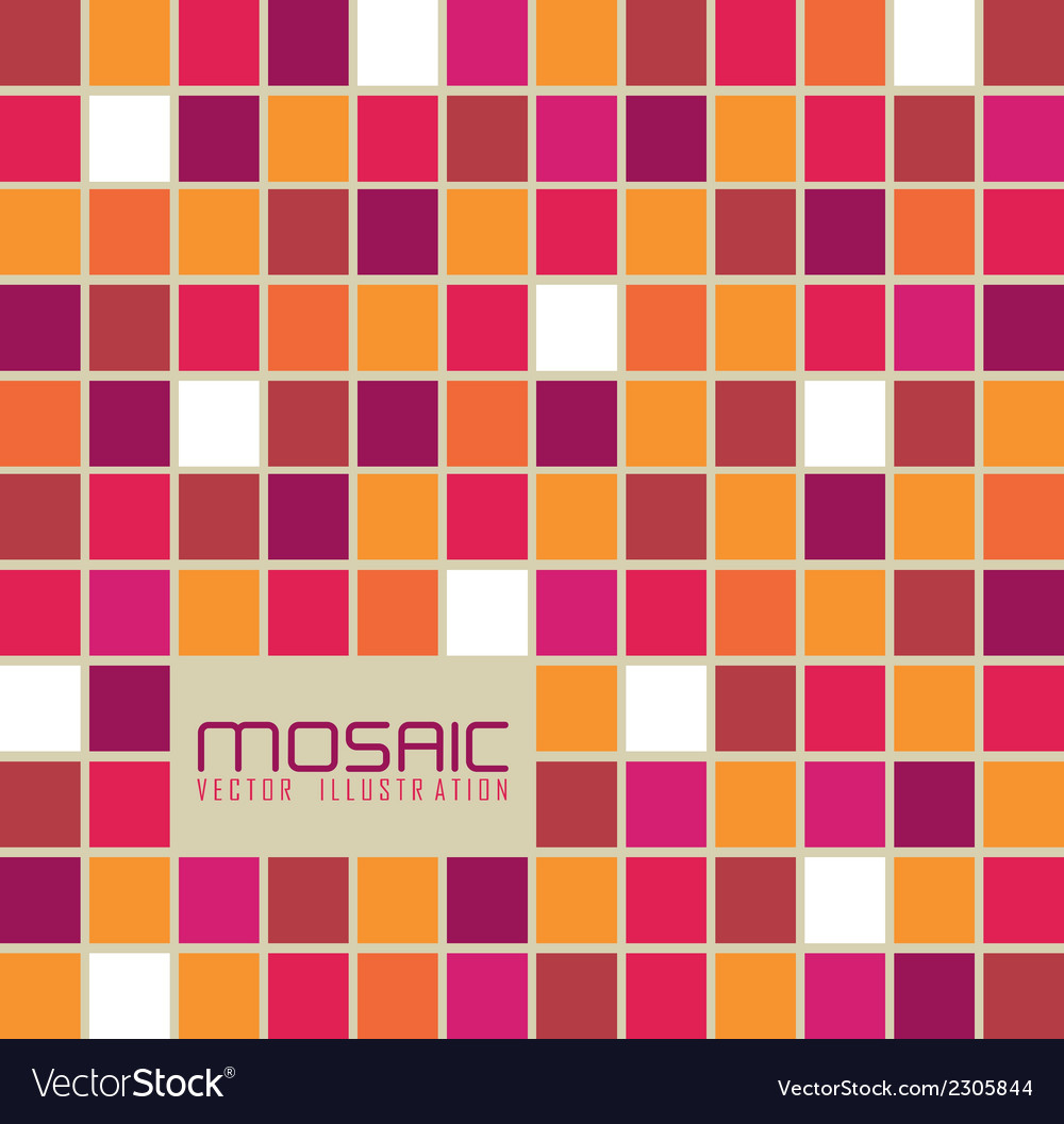 Mosaic of colored squares vector | Price: 1 Credit (USD $1)