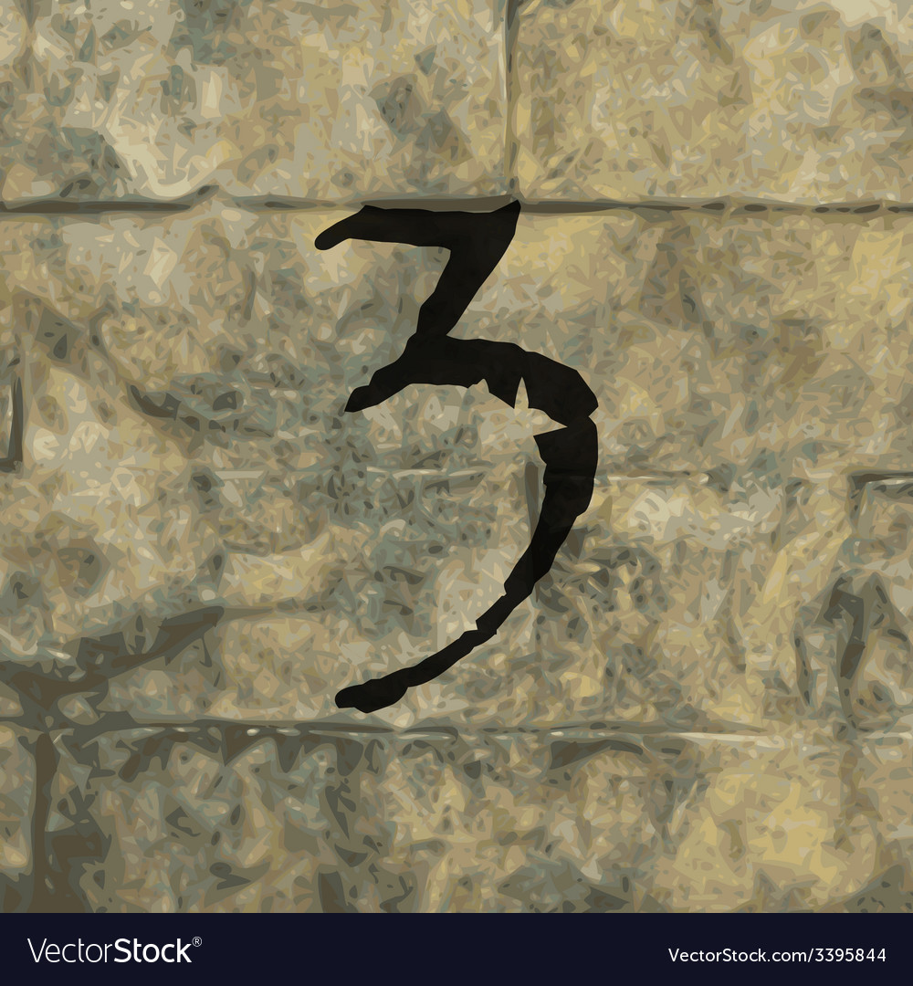Number three icon symbol flat modern web design vector | Price: 1 Credit (USD $1)