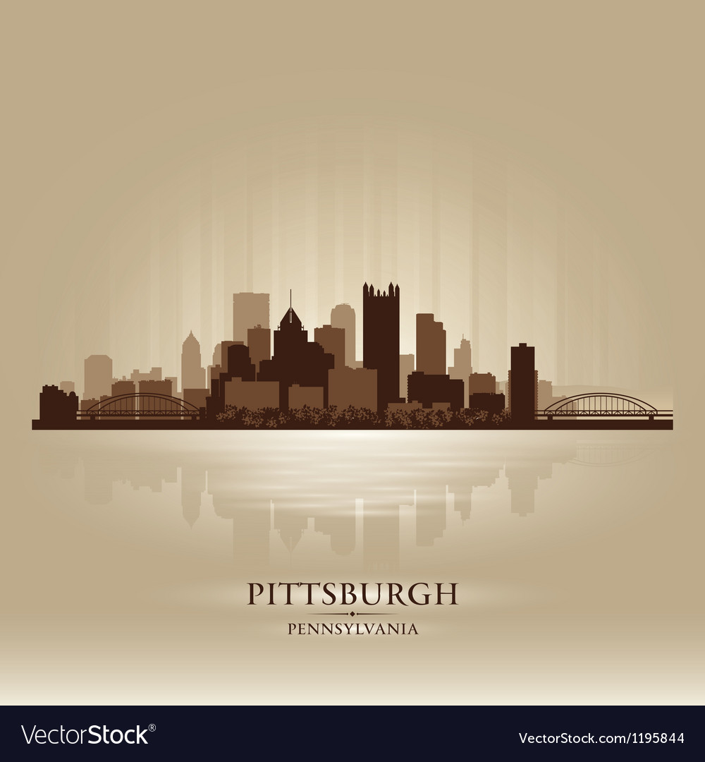 Pittsburgh pennsylvania skyline city silhouette vector | Price: 1 Credit (USD $1)