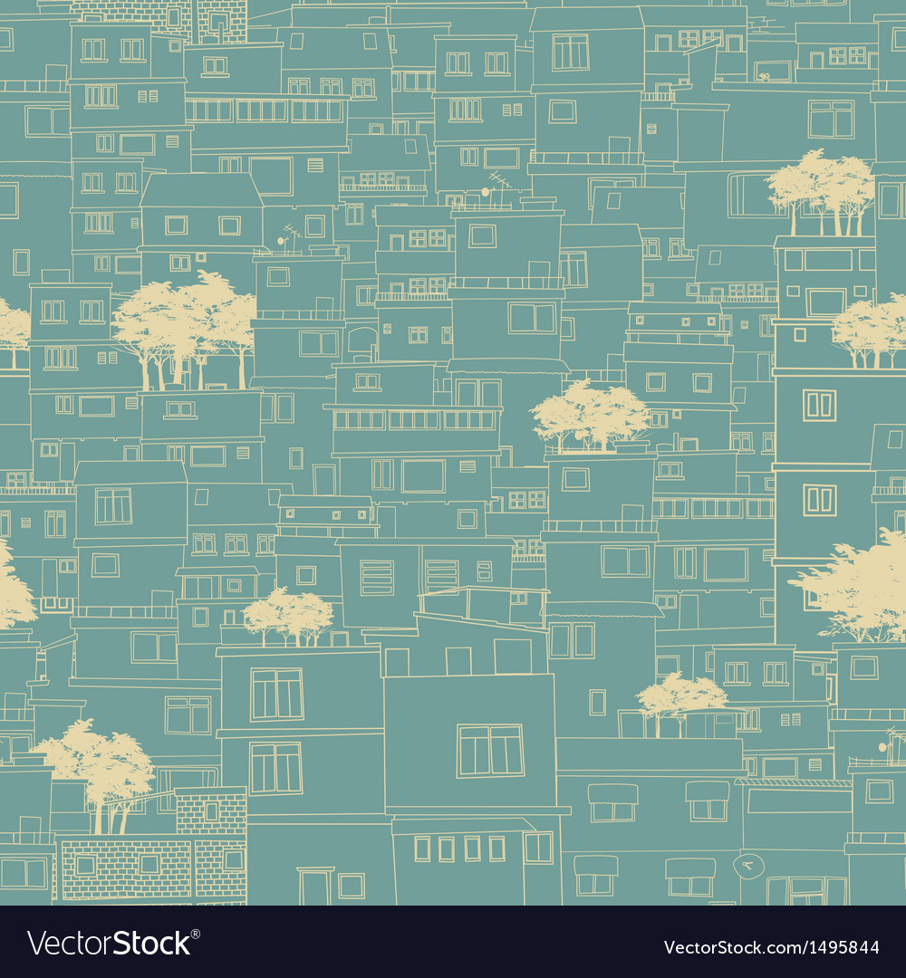 Seamless city pattern sketch vector | Price: 1 Credit (USD $1)