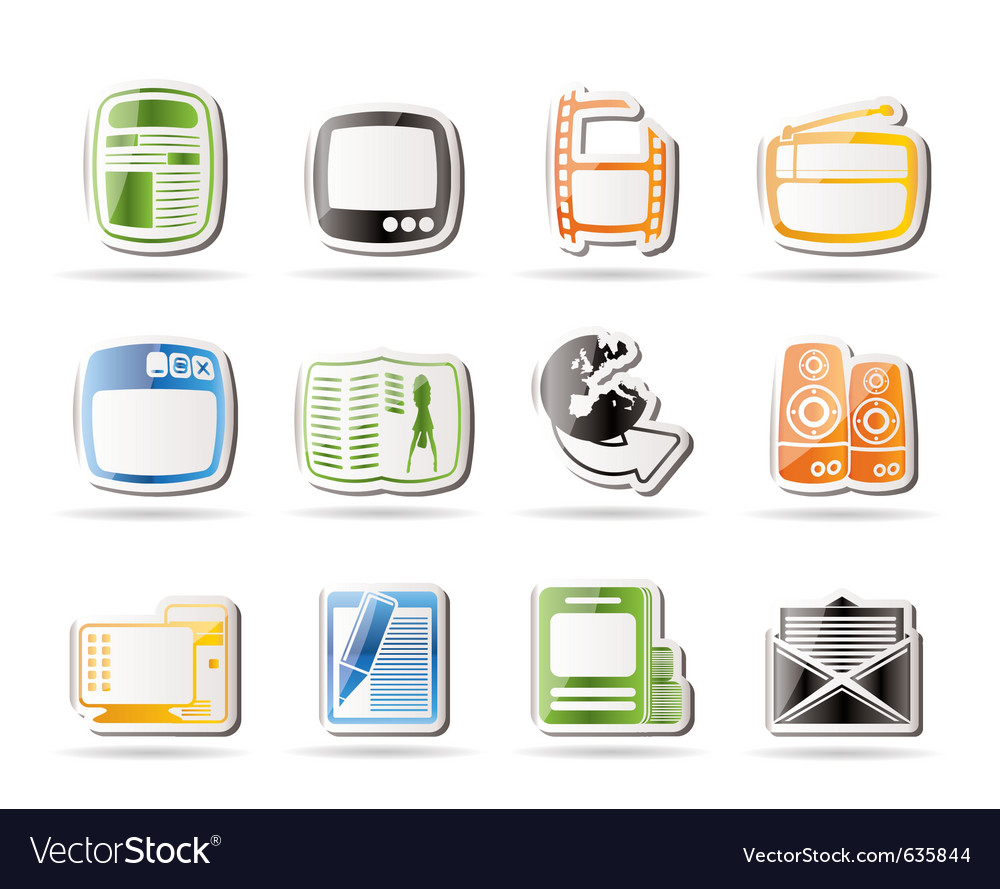 Simple media icons vector | Price: 1 Credit (USD $1)