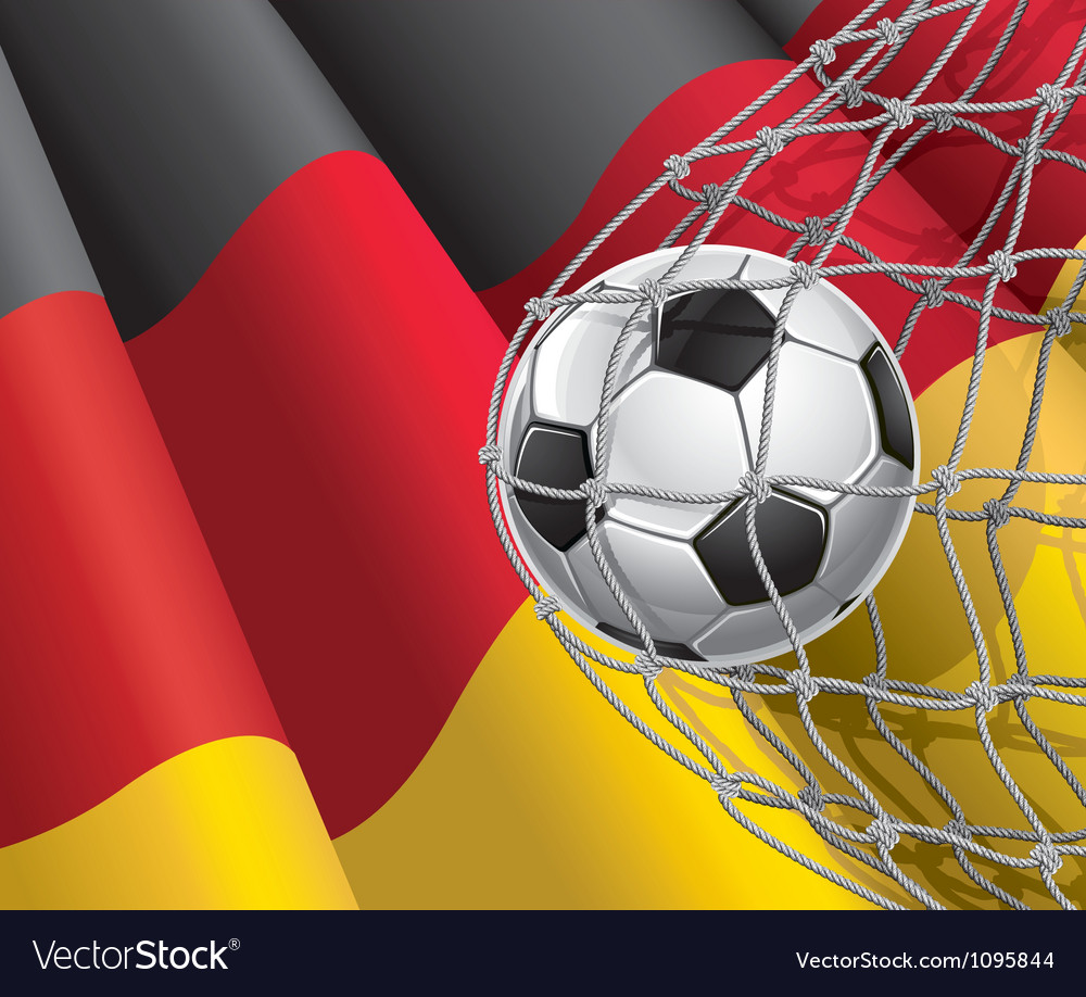Soccer goal and german flag vector | Price: 1 Credit (USD $1)