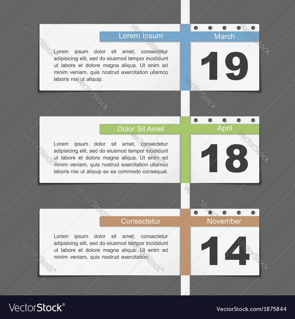 Timeline design vector | Price: 1 Credit (USD $1)
