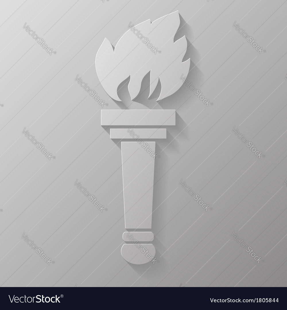 Torch burning vector | Price: 1 Credit (USD $1)