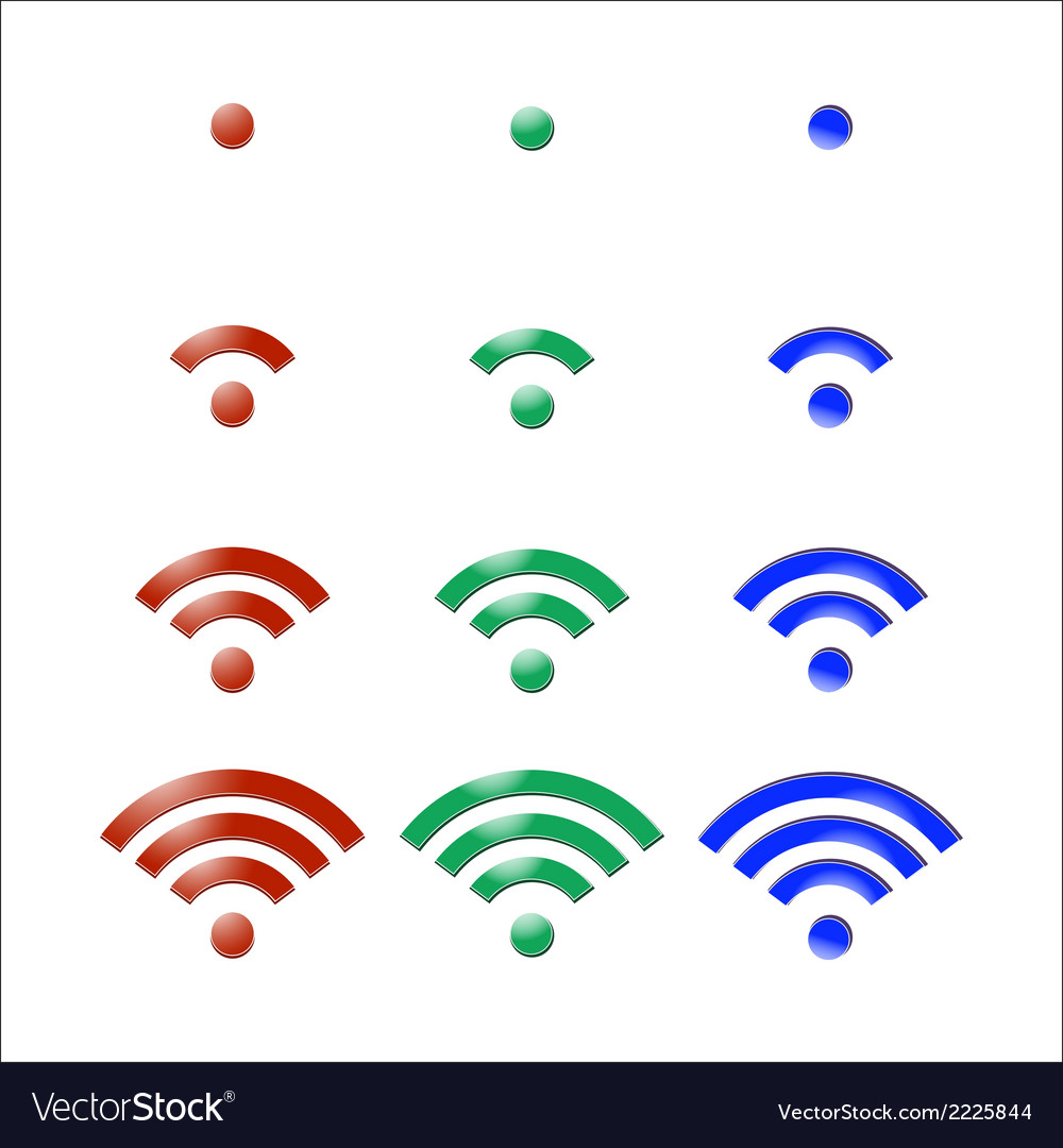 Wireless icon vector | Price: 1 Credit (USD $1)