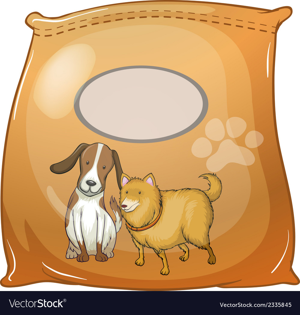 A pack of dogfoods with an empty label vector | Price: 1 Credit (USD $1)