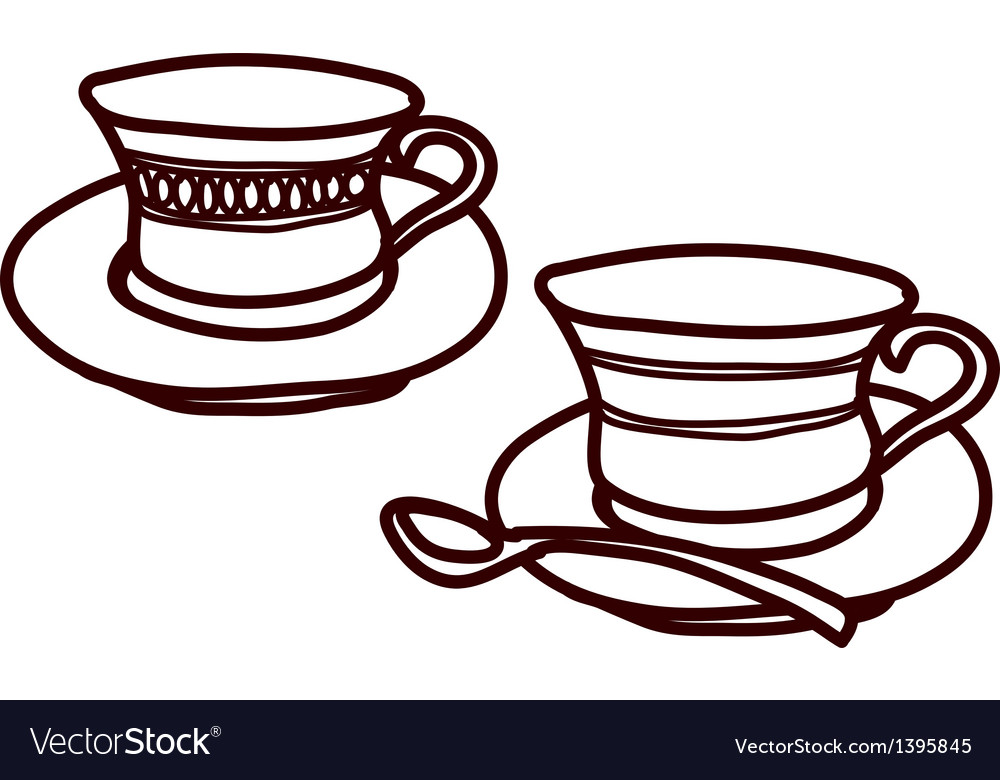 A pair of cups vector