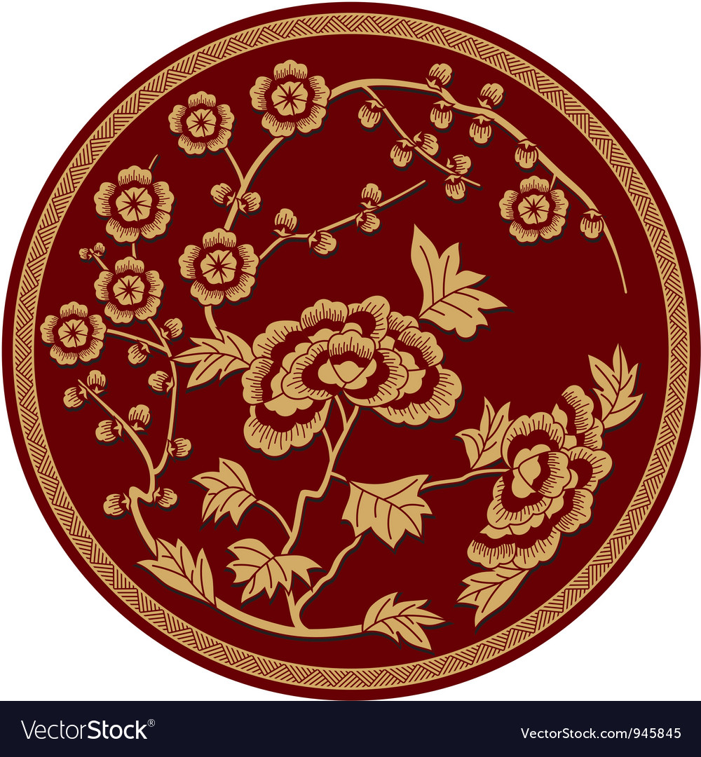 Chinese traditional floral pattern vector | Price: 1 Credit (USD $1)
