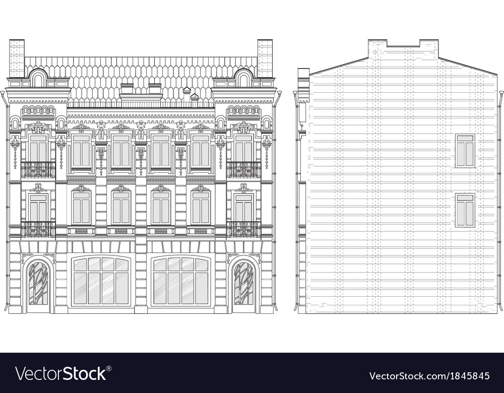 Drawing house vector | Price: 1 Credit (USD $1)