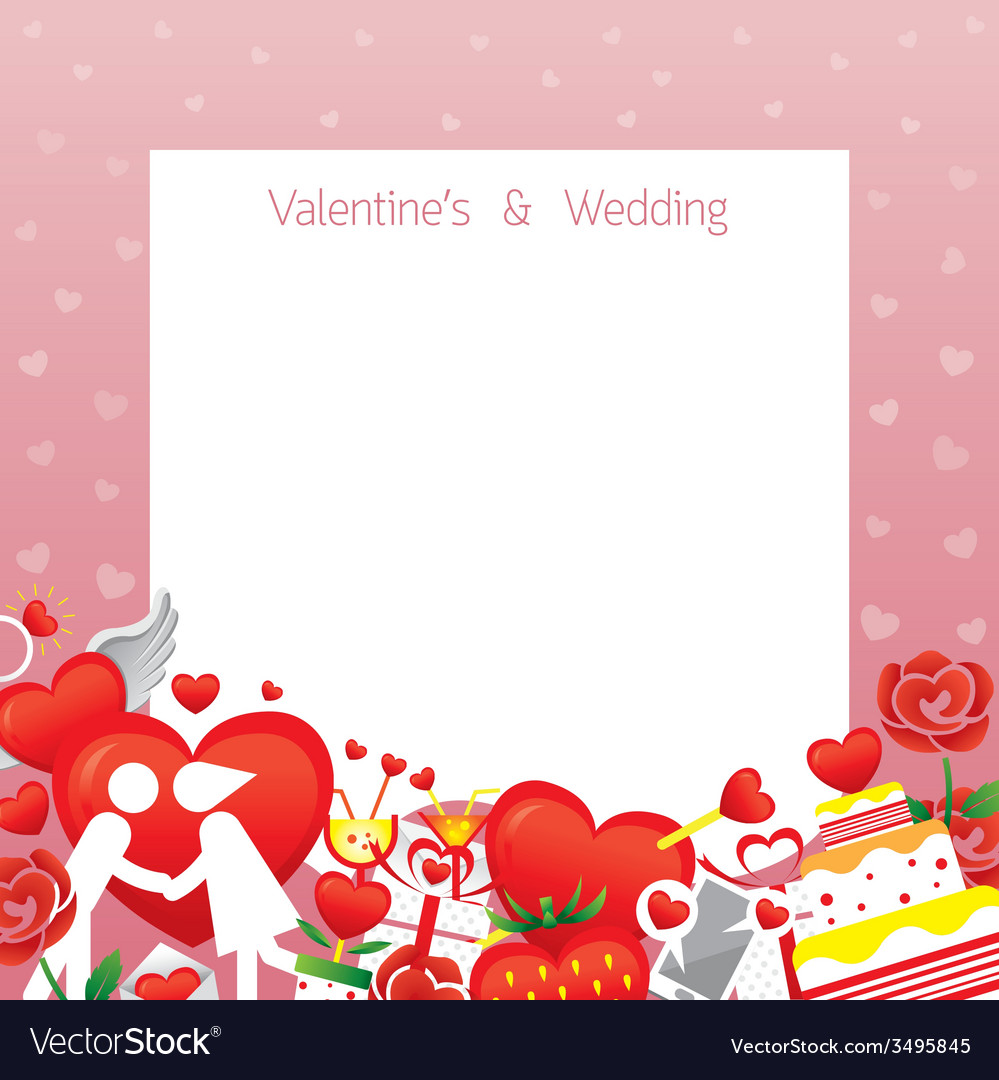 Love border frame vector | Price: 1 Credit (USD $1)