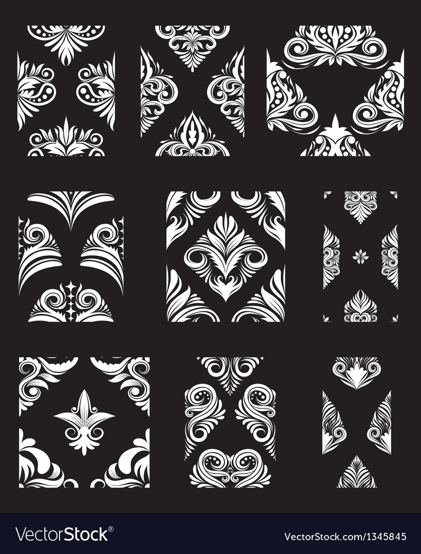 Ornamental pattern set vector | Price: 1 Credit (USD $1)