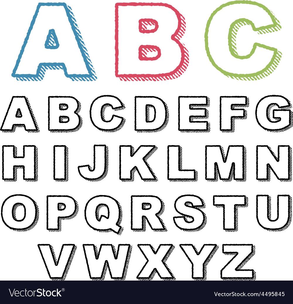 Retro alphabet vector   Price: 1 Credit (USD $1)
