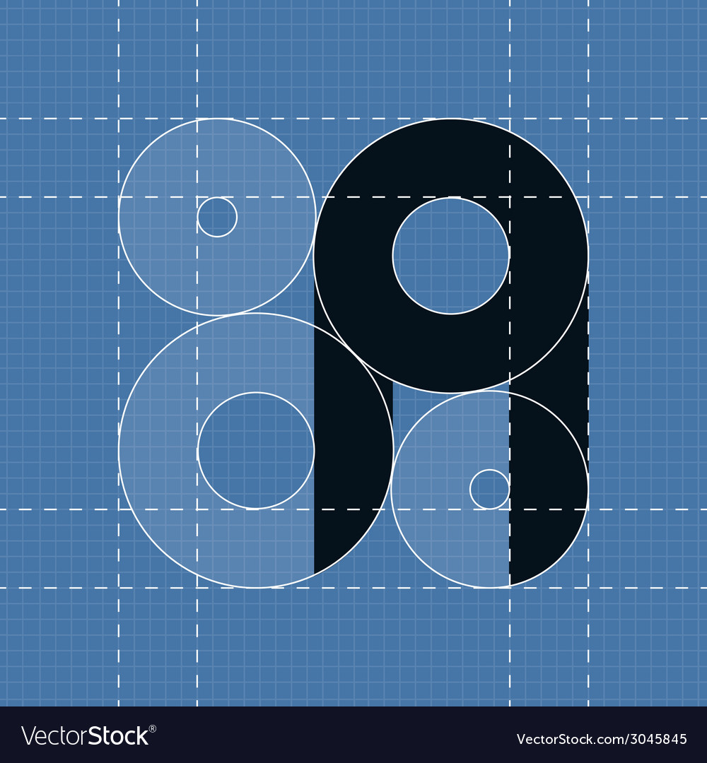 Round engineering font symbol a vector | Price: 1 Credit (USD $1)