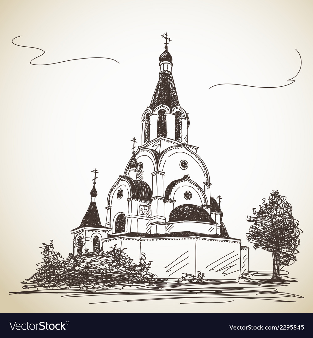 Russian orthodox church vector | Price: 1 Credit (USD $1)