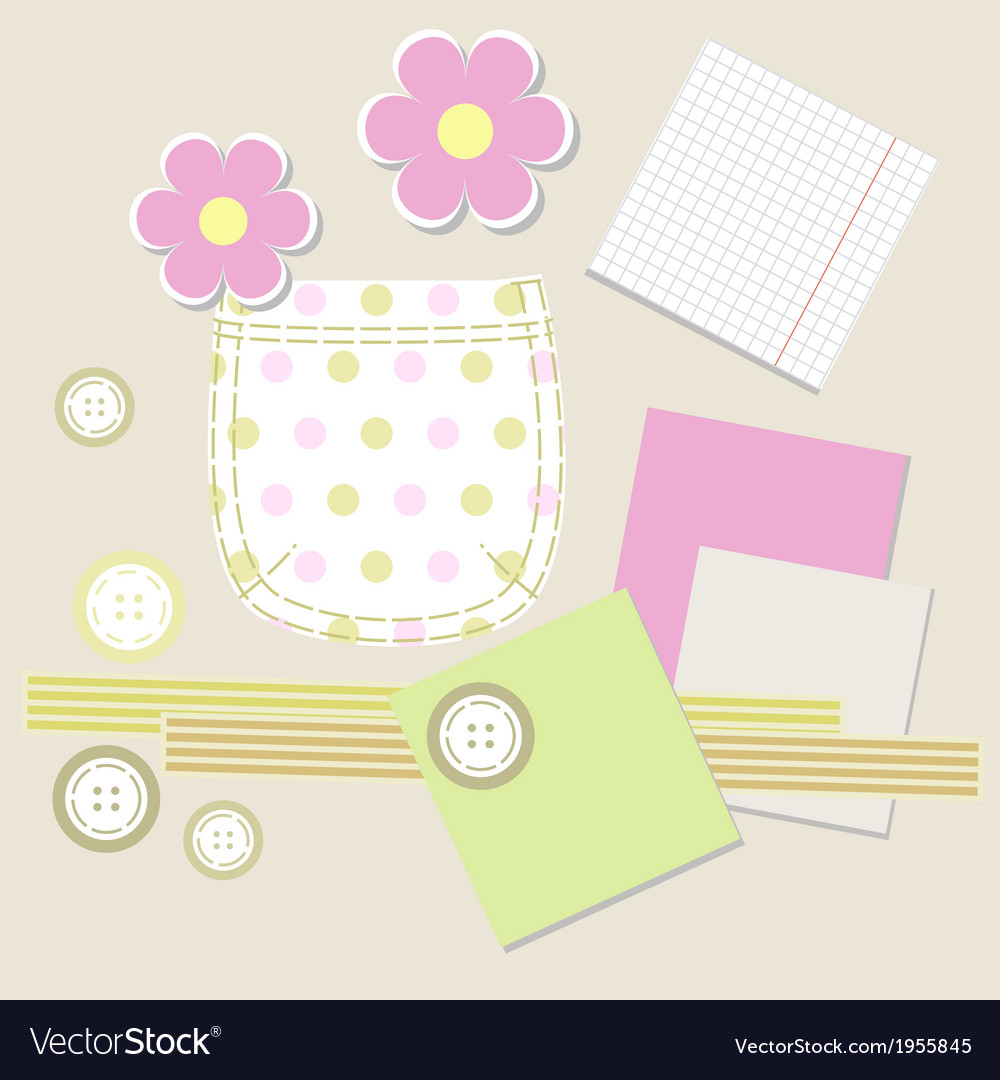 Swirl cute flower ornament vector | Price: 1 Credit (USD $1)