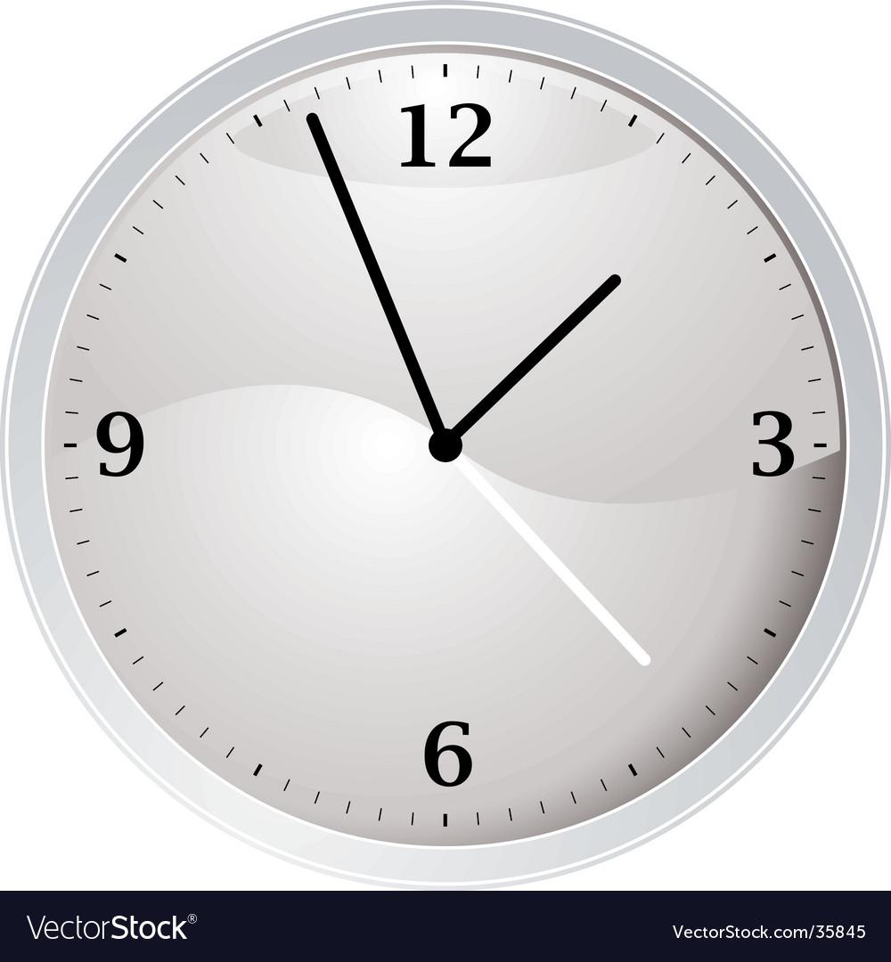 White clock vector | Price: 1 Credit (USD $1)