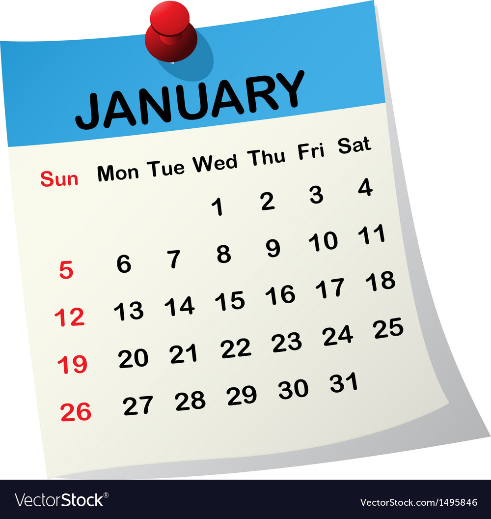 2014 calendar for january vector | Price: 1 Credit (USD $1)