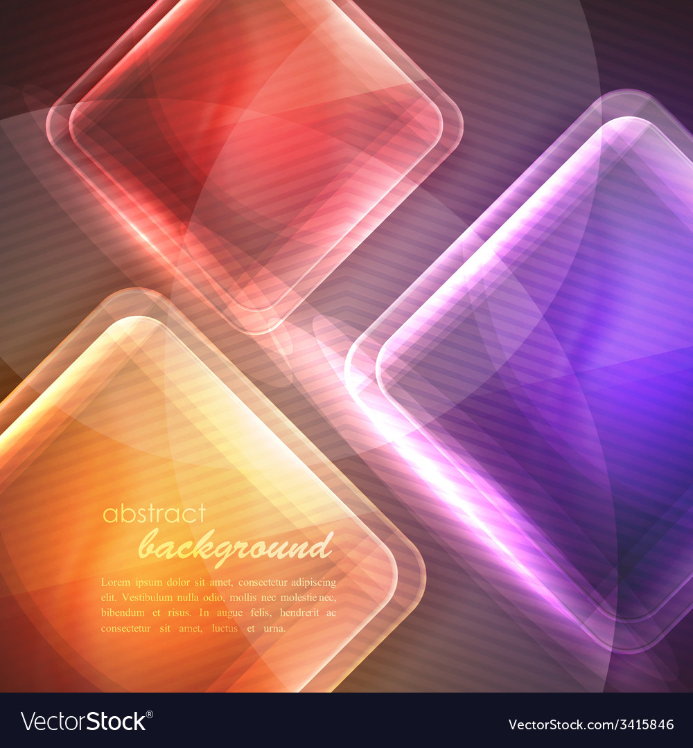 Abstract background with transparent glass squares vector | Price: 1 Credit (USD $1)