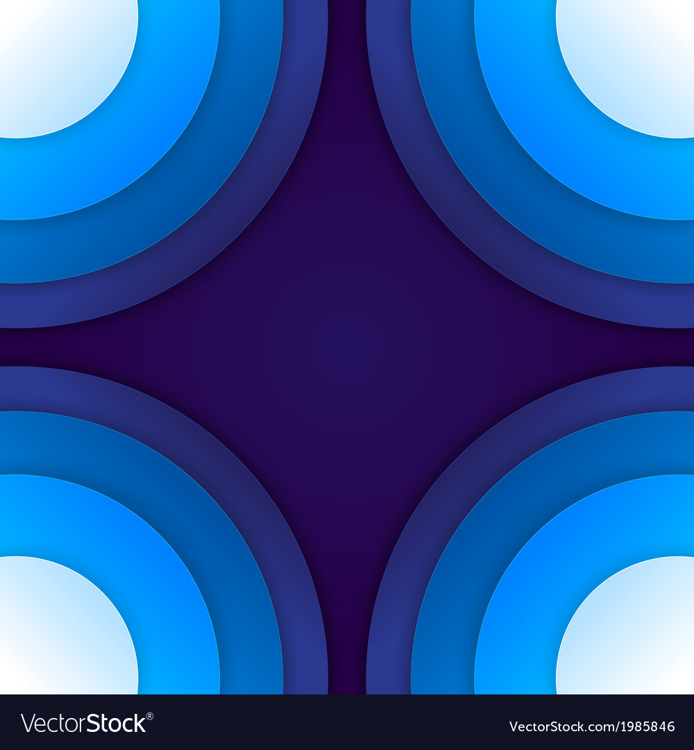 Abstract blue paper circles background vector | Price: 1 Credit (USD $1)