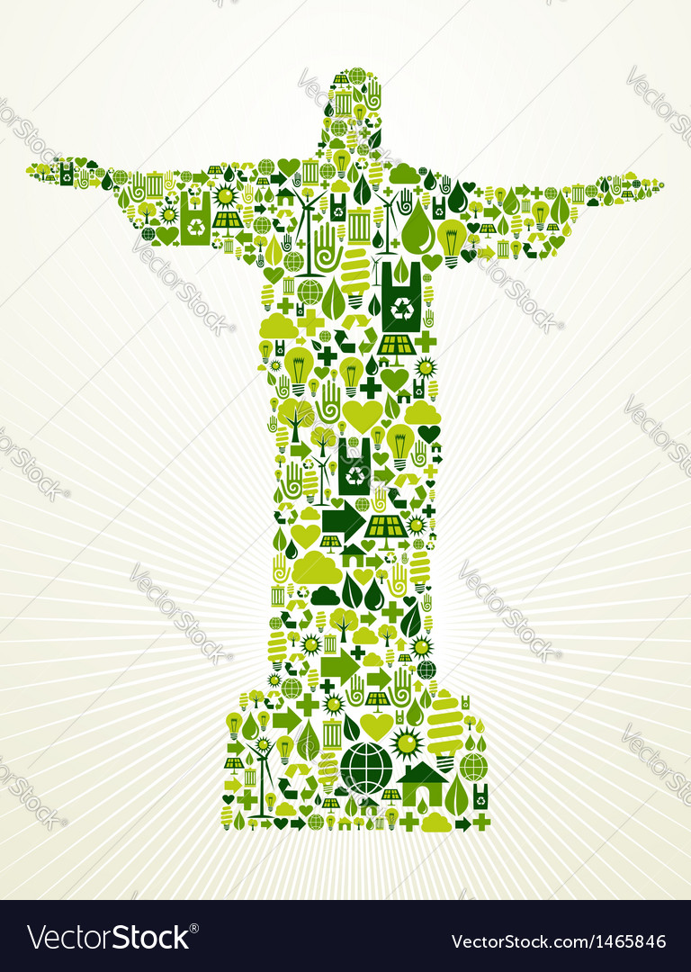 Brazil go green concept vector | Price: 1 Credit (USD $1)