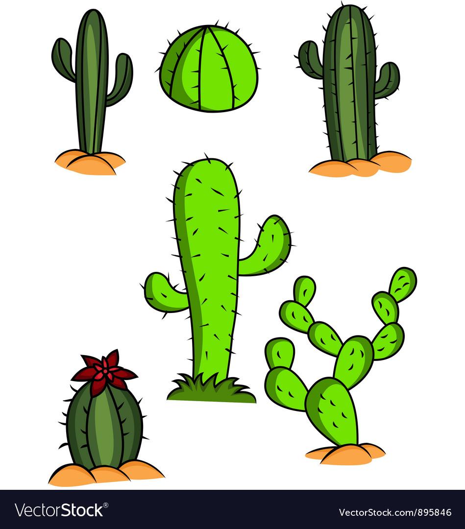 Cactus set vector | Price: 3 Credit (USD $3)