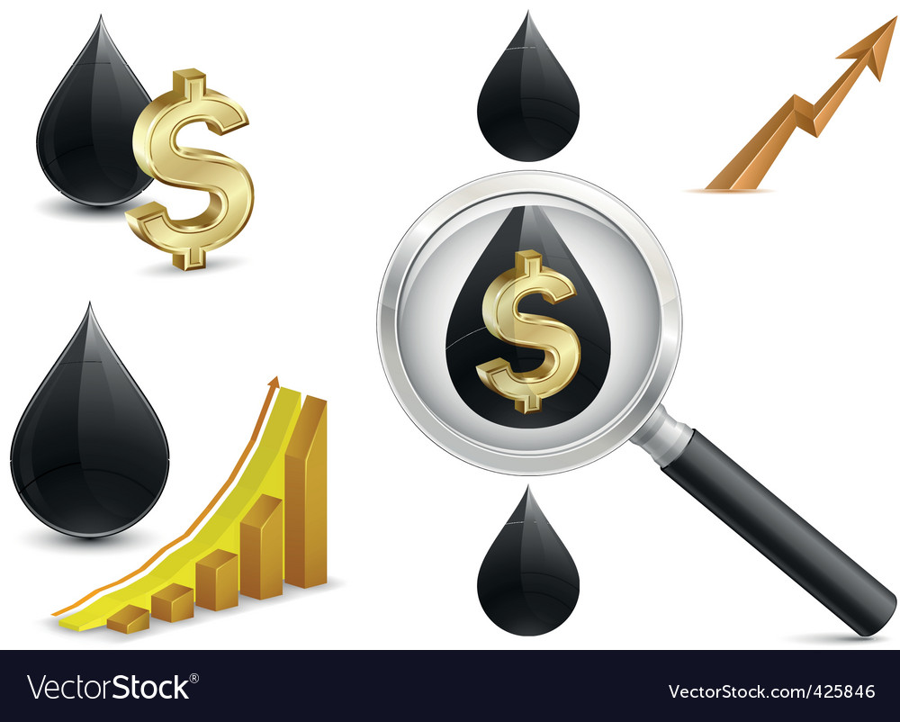 Crude oil price vector | Price: 1 Credit (USD $1)